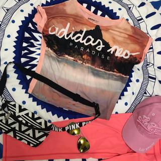 アディダス(adidas)のアディダス adidas ショートトップス  クロップド Tシャツ(Tシャツ(半袖/袖なし))