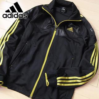 アディダス(adidas)の美品 M アディダス メンズ ジャージ/ジャケット ブラック(ジャージ)