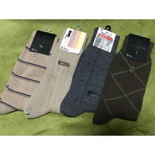 ジャンニバレンチノ(GIANNI VALENTINO)のメンズ 靴下 ソックス 4点セット 新品未使用 ボブソン バレンチノ(ソックス)