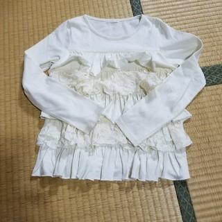 ジーユー(GU)の★(130)GUのフリルトップス 4350(Tシャツ/カットソー)