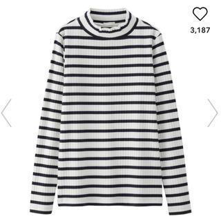 ジーユー(GU)のボーダーハイネックT(Tシャツ(長袖/七分))