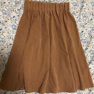 シマムラ(しまむら)のベロア ひざ丈スカート(ひざ丈スカート)
