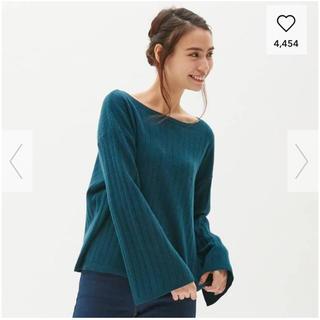 ジーユー(GU)のウールカシミヤ2WAYネックセーター(ニット/セーター)
