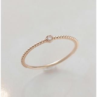 ノワール(NOIR)のnoir de poupee  10金リング 5号 ピンキーリング(リング(指輪))