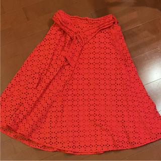 アンドクチュール(And Couture)のアンドクチュール*赤*スカート(ひざ丈スカート)