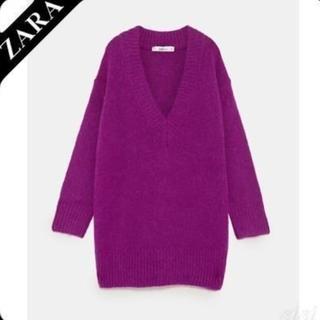 ザラ(ZARA)の今季 ZARAオーバーサイズVネックセーター  (ニット/セーター)