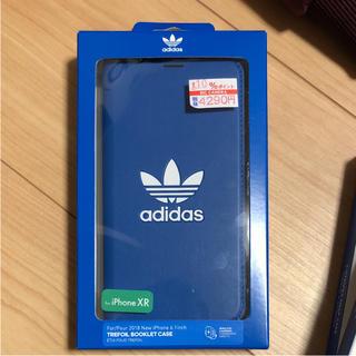アディダス(adidas)のadidas iPhone xr ケース  手帳型 値下げ!(iPhoneケース)