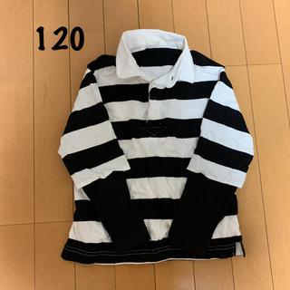 ジーユー(GU)のジーユー 120㎝ ボーダーTシャツ 重ね着風 長袖 GU(Tシャツ/カットソー)