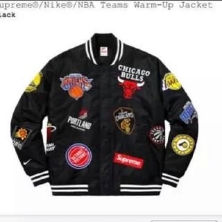 シュプリーム(Supreme)のSupreme Nike NBA Teams Warm-Up Jacket 黒(スタジャン)