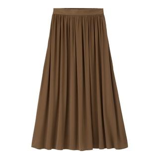 ジーユー(GU)のぴょんたん様専用  GU サテンフレアロングスカート(ロングスカート)