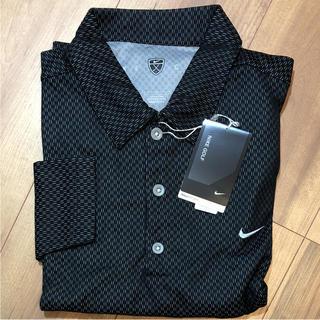 新品未使用 ナイキゴルフ フィットドライメンズ ブラック シャツ