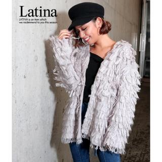 アナップラティーナ(ANAP Latina)のANAP Latina ループニットボリューム袖カーデ(ブルゾン)