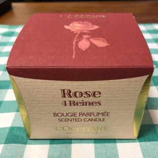 ロクシタン(L'OCCITANE)の【新品未使用】ロクシタン ローズセンティッドキャンドル100g(キャンドル)