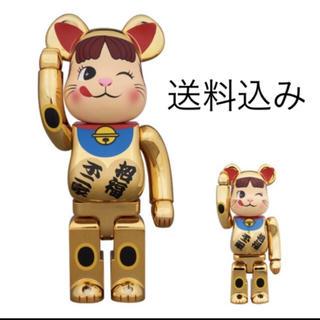 招き猫 ペコちゃん 金メッキ 弐 100% & 400% BE@RBRICK