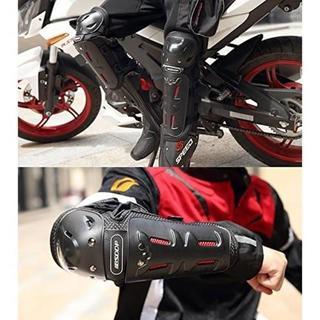 肘&膝 4点セット プロテクター オートバイ 自転車 パッド(装備/装具)