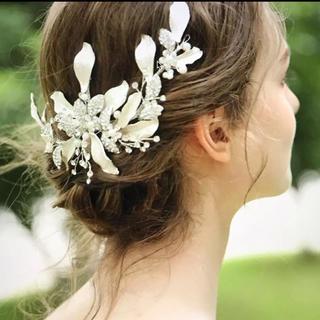 ウエディング☆ヘッドドレス ボンネ☆ヘアアクセサリー(ヘッドドレス/ドレス)