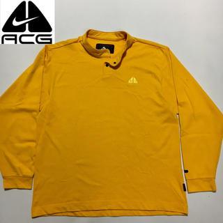 ナイキ(NIKE)の★NIKE AGC ナイキACG カットソー イエロー  Lサイズ(Tシャツ/カットソー(七分/長袖))