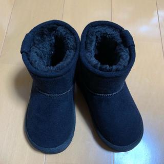 ブリーズ(BREEZE)の美品!ブリーズ  黒   ムートンブーツ  14.5(ブーツ)