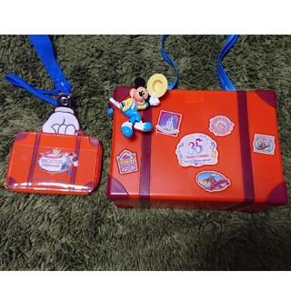 ディズニー(Disney)のディズニー35周年限定ポップコーンバゲット+チケットホルダー+おまけ(キャラクターグッズ)