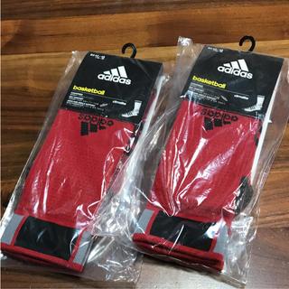 アディダス(adidas)のアディダス バスケットボール ID ソックス 赤 新品 2足まとめて(バスケットボール)