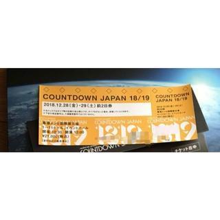 countdown japanカウントダウンジャパン 前2日券1枚 28日29日(音楽フェス)