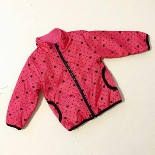 ジェニィ(JENNI)の女の子 ジャンバー アウター 防寒 ピンク ハート ドット柄 水玉 95(ジャケット/上着)