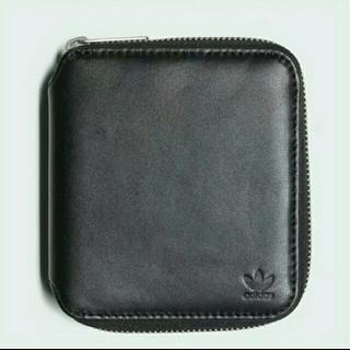 アディダス(adidas)のアディダス レザー財布 黒 新品未使用(折り財布)