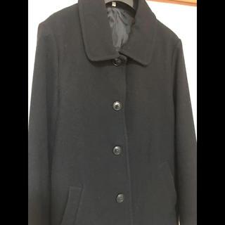 ムジルシリョウヒン(MUJI (無印良品))の無印良品 レディース コート サイズLウール混紡 ブラック (ロングコート)