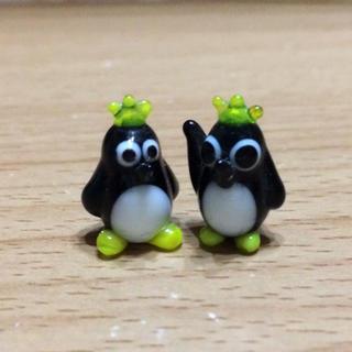 ビードロペンギン2セット、組曲スカート(ガラス)