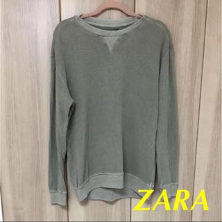 ザラ(ZARA)のZARAザラ ワッフルカットソー カーキ(Tシャツ/カットソー(七分/長袖))
