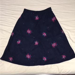 アクアガール(aquagirl)の花柄フレアスカート(ひざ丈スカート)