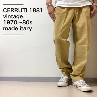 セルッティ(Cerruti)の〈美品〉CERRUTI 1881 セルッティ ワイドスラックス70s〜80s希少(スラックス)