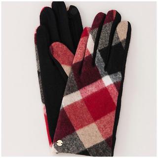 【新品】ブルーレーベルクレストブリッジ  チェック柄手袋  日本製(手袋)