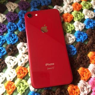 アイフォーン(iPhone)のau iPhone8 64GB PRODUCT レッドiPhone 本体(スマートフォン本体)