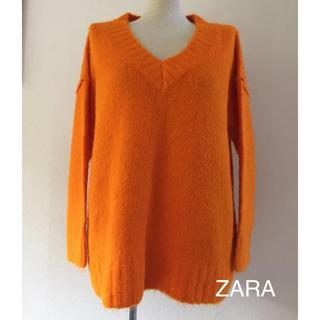 ザラ(ZARA)の【新品】ZARA オレンジニット(ニット/セーター)