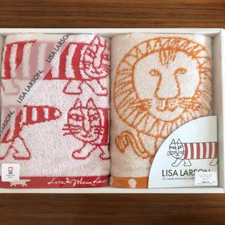 リサラーソン(Lisa Larson)のリサラーソン 今治タオル フェイスタオル 2枚(タオル/バス用品)