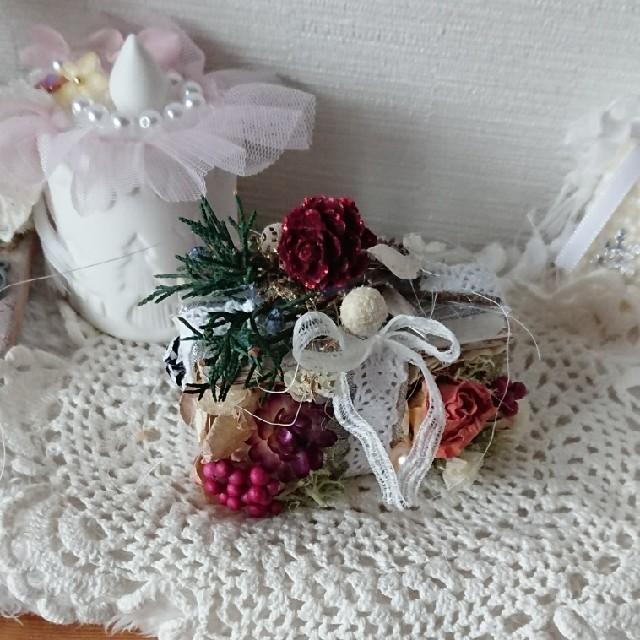 ペペロン様おまとめページドライフラワークリスマスミルフィーユアレンジ ハンドメイドのフラワー/ガーデン(ドライフラワー)の商品写真