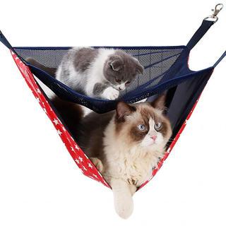 !! 猫 ハンモック 二匹用 二層 キャットモック ニャンモック ペット用品 取(猫)