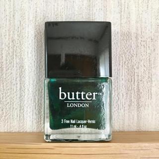 バターロンドン(butter LONDON)のほぼ未使用 butter LONDON ネイル ポリッシュ グリーン(マニキュア)
