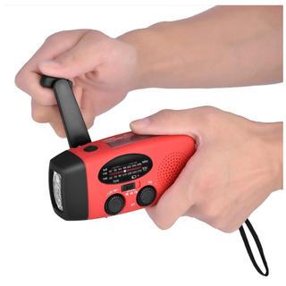 (激安)防災ラジオポータブル ライトAM/FM /WBラジオUSB充電手回充電(防災関連グッズ)