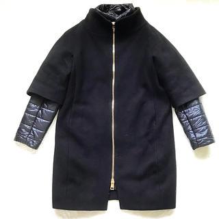 ヘルノ(HERNO)の専用!size40! HERNO  レイヤードコート 黒(ダウンコート)