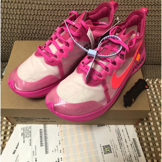 ナイキ(NIKE)の27.5 OFF-WHITE × NIKE ZOOM FLY PINK (スニーカー)