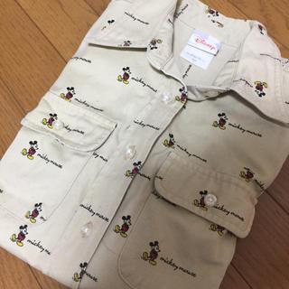 ディズニー(Disney)の新品 ミッキー柄シャツ(シャツ/ブラウス(長袖/七分))