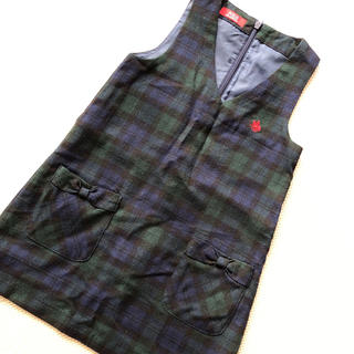 シマムラ(しまむら)のPOLO ジャンパースカート 110(ワンピース)