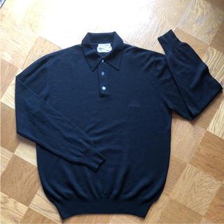 アルマーニ(Armani)の【再お値下】新品 ジォルジオアルマーニ ポロシャツセーター黒 ウール100(ニット/セーター)