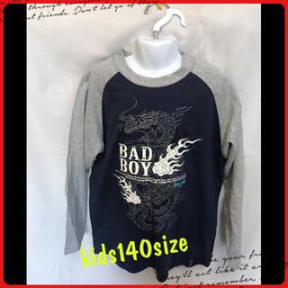 バッドボーイ(BADBOY)のkids140size♡BAD BOYロンT 美品 ストーン付き  (Tシャツ/カットソー)