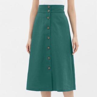ジーユー(GU)のGU  フロントボタン  スカート(ひざ丈スカート)