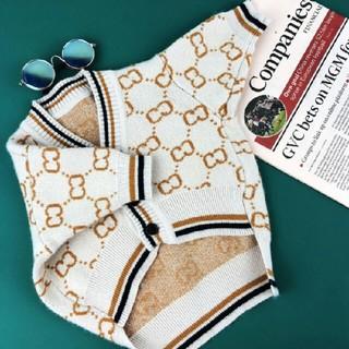 Gucci - GUCCIペット犬服 冬用 可愛い 犬洋服ニット服保温お出掛け用 ファッシ S