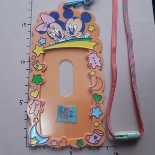 ディズニー(Disney)の②ピンク紐 ちびミッキー ディズニー チケットホルダー(キャラクターグッズ)