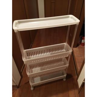 洗濯機と洗面台の隙間に最適ラック(バス収納)
